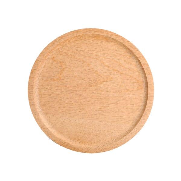 2 piece set beechwood plates