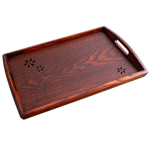 Oval/rectangular tray with handles